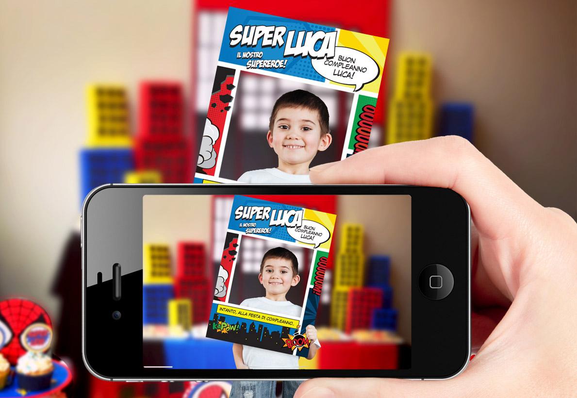Cornice photo booth personalizzata festa per bambini