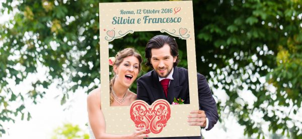 cornice photo booth matrimonio