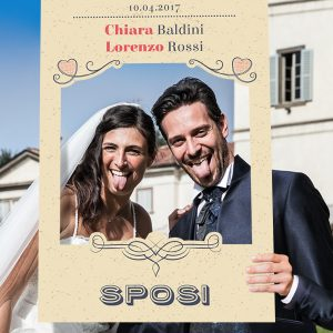 cornice photo booth per matrimonio vintage